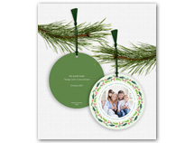 Merry Christmas Lots of Joy Photo Ornament Card
